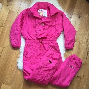 Vintage 80/90s neon Sunice snow suit youth age 16